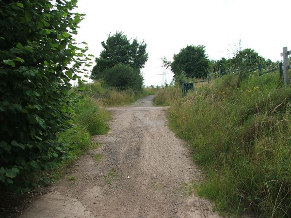 Image, UK, England, Derbyshire, public foot path between Bath Lane Farm and Woodland Farm