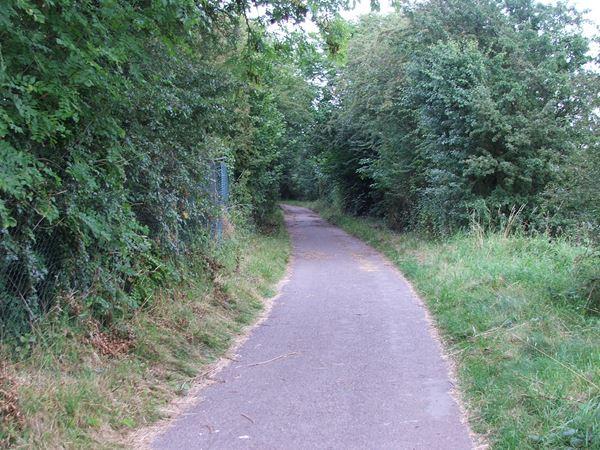 Image, UK, England, Derbyshire, public foot path between Bath Lane Farm and Woodland Farm