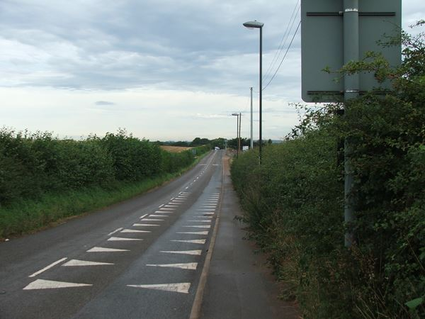 Image, UK, England, Derbyshire, the road at the North West part of the Shirebrook to Upper Langwith
