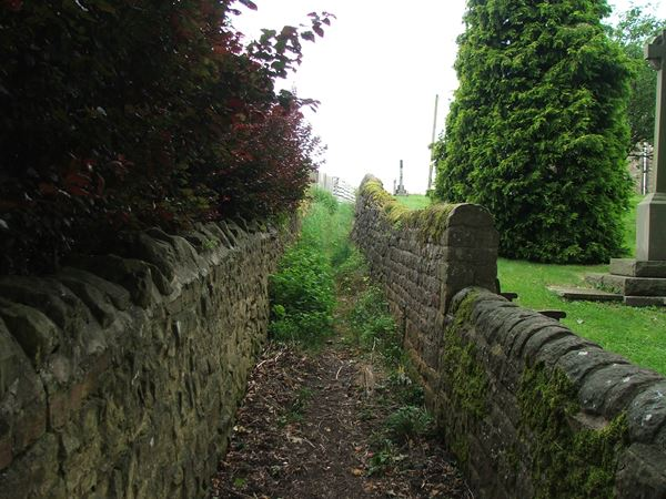 Image, UK, England, Derbyshire, Archaeological Way between Upper Langwith and Old Hall