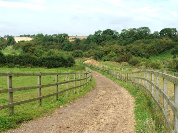 Image, UK, England, Notts, public foot path from Warren Farm to River Maun