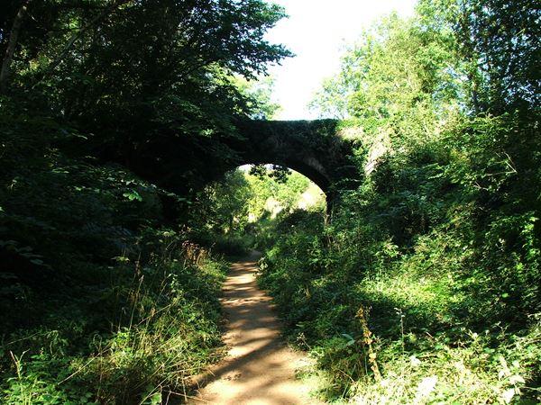 Image, UK, England, Derbyshire, public foot path along Pleasley Vale